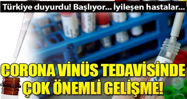 Corona virüs tedavisinde yeni yöntem! Türkiye duyurdu...