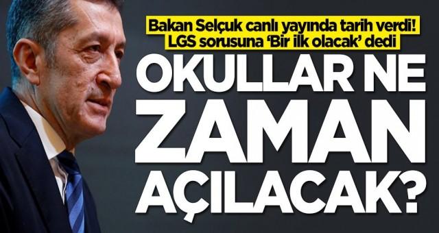 Milli Eğitim Bakanı Ziya Selçuk'tan LGS açıklaması! 'Sınav tarihinde bir ilk olacak'