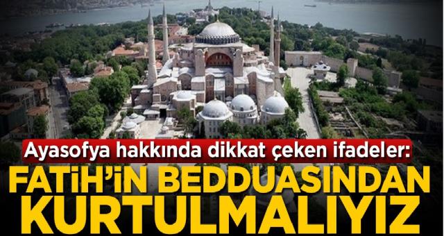 Fatih'in bedduasından kurtulmalıyız