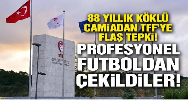 TFF'ye flaş tepki! Ankara Demirspor, profesyonel futboldan çekiliyor!
