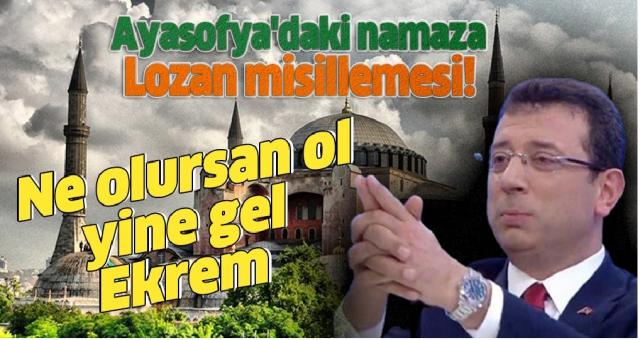 Seçimden önce Cami'de namaz kılıp yasin okuyan imamoğlu sorumlusu olduğu kentin en güzide camisi açılırken bakın nereye gidiyor