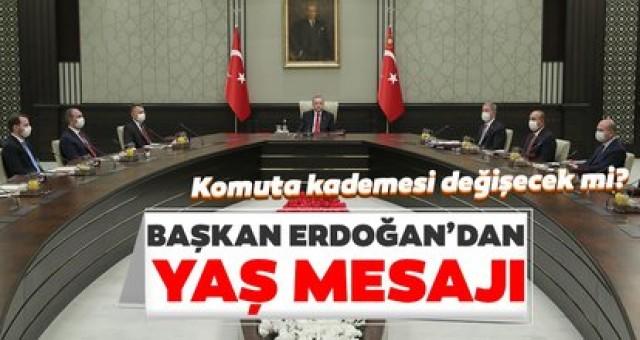 Başkan Erdoğan'dan YAŞ mesajı