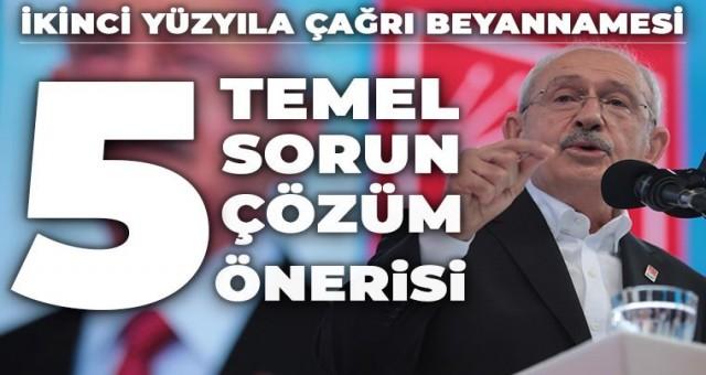 Kemal Kılıçdaroğlu'ndan iktidar manifestosu