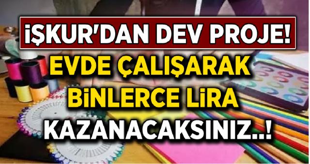 İŞKUR'dan Evde Çalışarak Binlerce Lira Kazandıracak Dev Proje!
