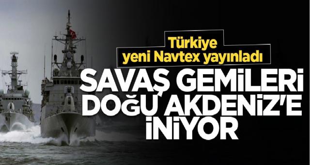 Türkiye Mısır ve Yunanistan'nın hamlesine Karşılık verdi Savaş gemilerini Doğu akdeniz'e yolladı