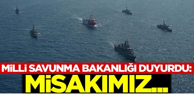 Milli Savunma Bakanlığı duyurdu: Misakımız...