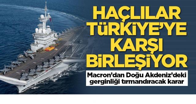 Türk düşmanı Macron Türkiye'ye gözdağı vermeye kalktı