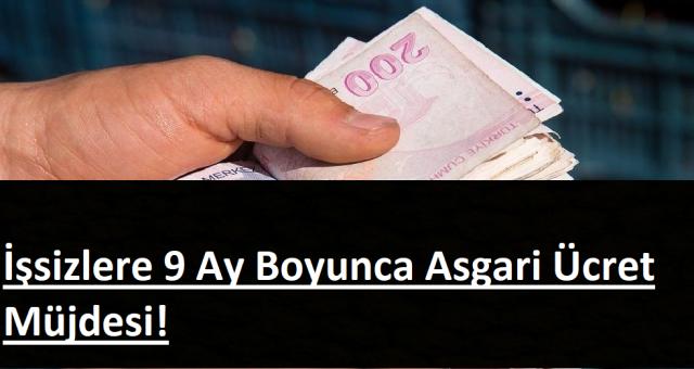 Hemen Başvuru Yapın 9 ay işsizlere 2324 lira maaş