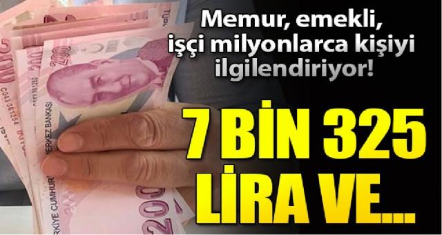 Erken emeklilik, ücretsiz izin ve 7 bin 325 lira ödeme...