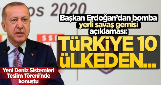 Cumhurbaşkanı Erdoğan'dan bomba