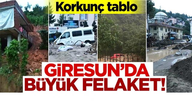 Giresun'daki sel felaketinin boyutları gün ağarınca ortaya çıktı