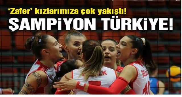 Türkiye, Avrupa şampiyonu! Bravo kızlar! | CEV U19 Genç Kızlar Avrupa Şampiyonası Finali