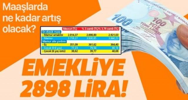 Emeklilere zam oranı belli oldu yeni zamlı maaş 2898 lira