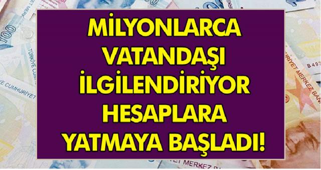 Engelli ve Yaşlılara maaş ödemeleri başladı! Hemen hesaplarınızı kontrol edin…