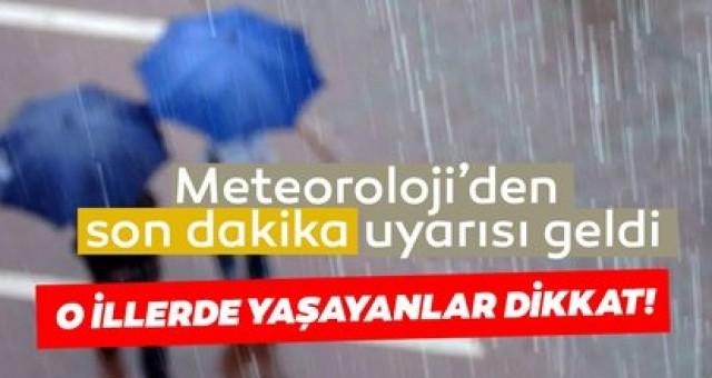 Meteoroloji'den son dakika hava durumu ve sağanak yağış uyarısı geldi! 10 Eylül 2020 Bugün hava nasıl olacak? O illerde yaşayanlar dikkat!