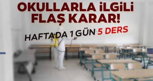 SON DAKİKA! Okulların açılması hakkında MEB'den flaş yazı; Haftada bir gün 5 ders