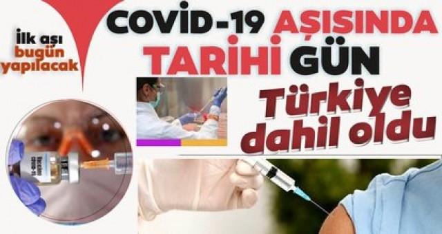 Son dakika: Koronavirüs aşısında tarihi gün! Türkiye sürece dahil oldu, ilk deneme bugün...