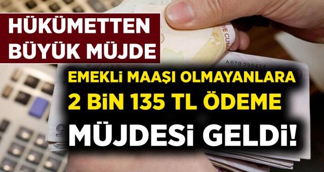 Büyük Müjde! Emekli Olamayanlara 2135 TL Ödeme Müjdesi Geldi..!