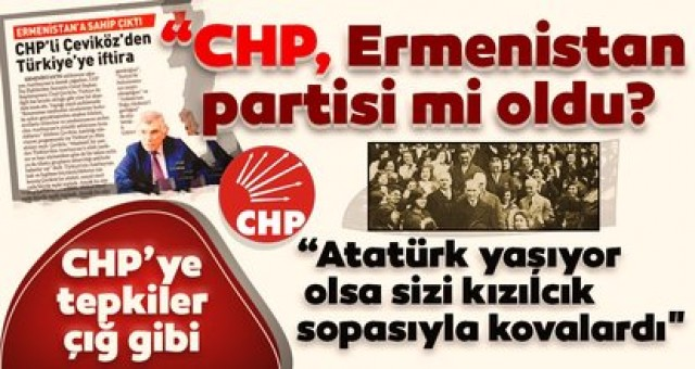 Atatürk'ün Partisi CHP'den Ermenistan'a Destek