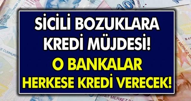 Sicili bozuklara kredi müjdesi! Halkbank ve Vakıfbank sicili bozuk herkese kredi verecek…