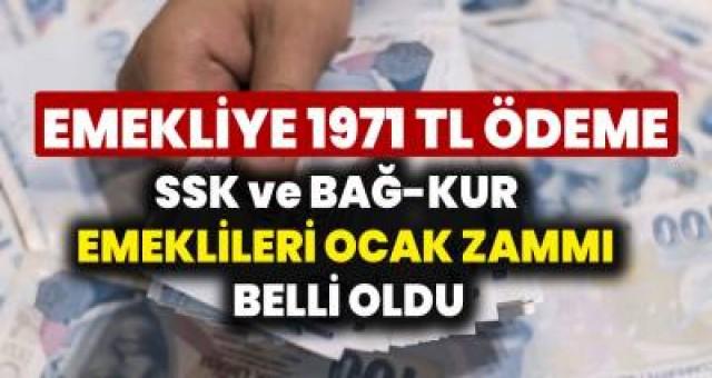 20202021 SSK, SGK ve Bağ-Kur Emeklilerine Ocak Zammı Belli Oldu! Emeklilere 1971 TL Müjdesi Geldi...