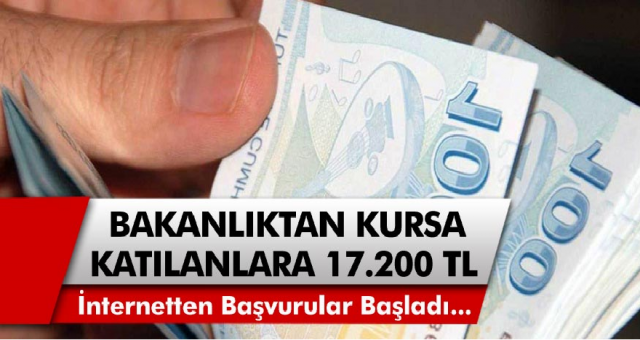 İŞKUR ve Bakanlık Kursa Katılan Herkese 17 Bin TL Ödeme Yapıyor!  Hemen Başvuru Yapabilirsiniz…