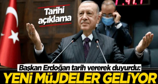 AK Parti gurup toplantısında konuşan Cumhurbaşkanı Recep Tayyip Erdoğan tarih vererek mujdelerimiz olacak dedi