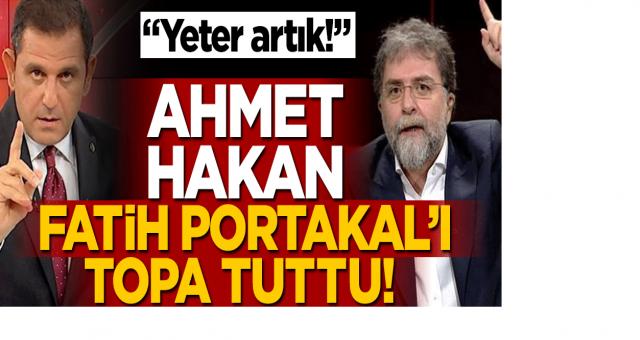 Ahmet Hakan Fatih Portakal'a çok sert çıktı: Yeter Portakal yeter!