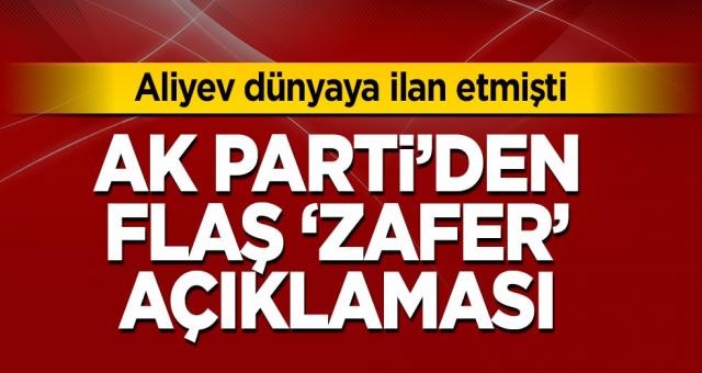 AK Parti'den flaş 'zafer' açıklaması