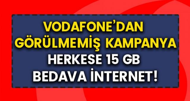 Vodafone'den Kasım Ayı için Bedava İnternet Kampanyası! Testi Çözerek Bedava İnternet Sahibi Olabilirsiniz