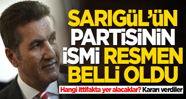 Partisinin ismi belli olan Mustafa Sarıgül hangi ittifakta yer alacağını açıkladı
