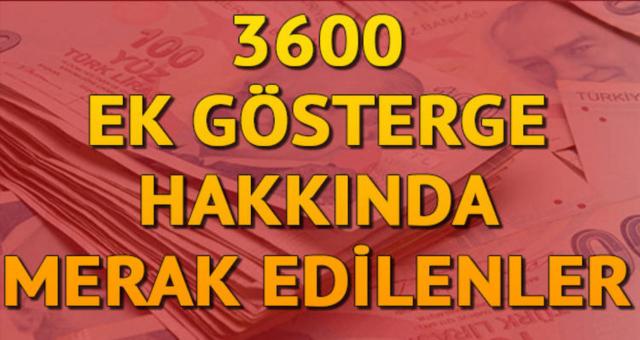 3600 ek gösterge çıkacak mı? 3600 ek gösterge son durum ne?