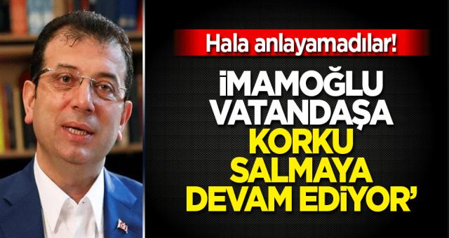 İmamoğlu sadece istanbullular için değil bütün Türkiye için güvenlik sorunu olmaya başladı