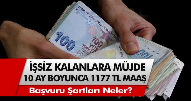 Hükümet kanadından müjde! Tam 10 ay boyunca aralıksız 1177 TL maaş verilecek…