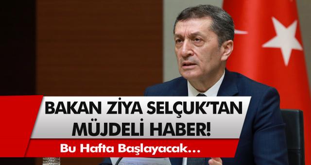 Milli eğitim bakanı Ziya Selçuk'tan müjdeli haber! Bu hafta başlayacak… Sınavlar nasıl olacak, karneler nasıl verilecek?