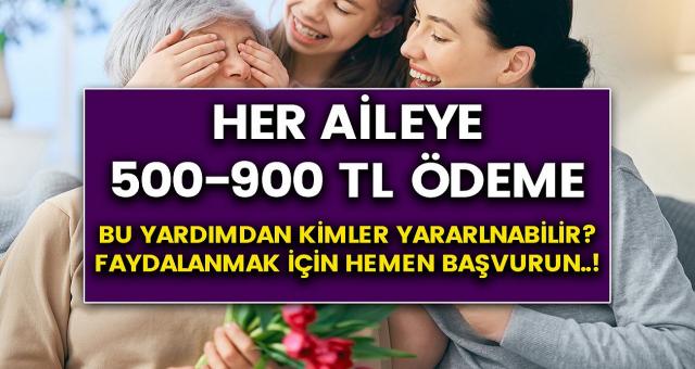Tüm ailelere 500-900 TL arası destek ödemesi verilecek..! Kimler bu yardımdan yararlanabilir? Hemen başvurabilirsiniz