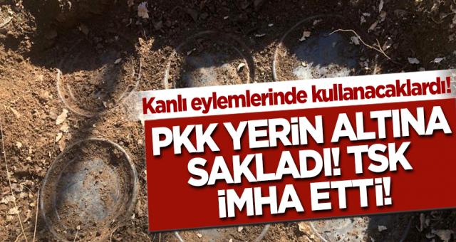 Terör saldırısında kullanacaklardı! PKK yerin altına gizledi ekipler imha etti