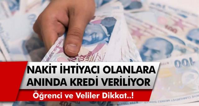 Öğrenci ve veliler dikkat: Kamu Bankası nakit ihtiyacı olanlara anında kredi verilecek! Faiz oranları belli oldu…