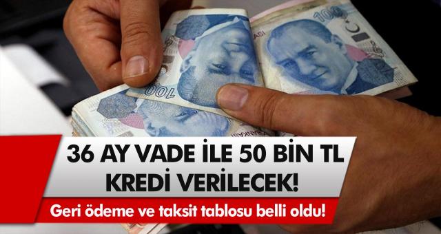 Halkbank'tan müjde! Başvuran herkese 36 ay vade ile 50 bin TL kredi verilecek... Geri ödeme ve taksit tablosu belli oldu!