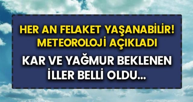 Meteoroloji genel müdürlüğünden İstanbul'a uyarı geldi! Kar ve yağmur bekleniyor, her an felaket yaşanabilir!