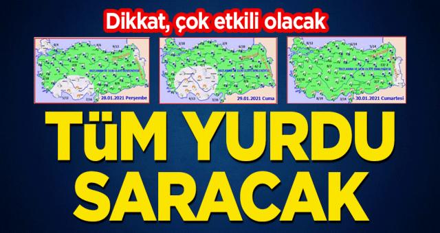 Dikkat, Balkanlar'dan Türkiye'ye geliyor! Tüm yurdu saracak