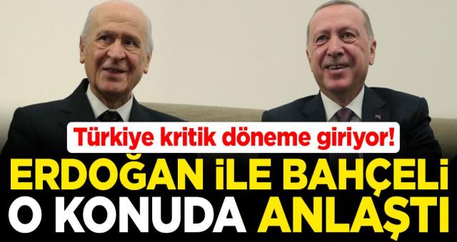 Cumhurbaşkanı Recep Tayyip Erdoğan ile MHP lideri Devlet Bahçeli yeni anayasada anlaştı