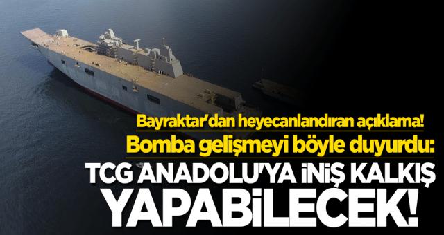 Haluk Bayraktar müjdeyi verdi: TCG Anadolu'ya iniş kalkış yapabilecek