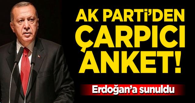 AK Parti'den çarpıcı anket! Erdoğan'a sunuldu...
