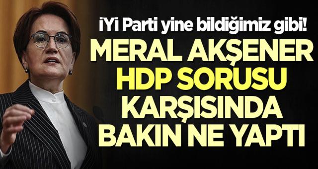 Meral Akşener, HDP sorusu karşısında bakın ne yaptı
