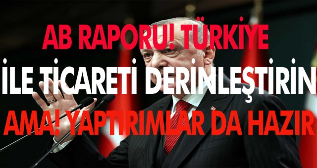 AB raporuna göre Türkiye ile ticareti derinleştirin ama yaptırımlar hazır