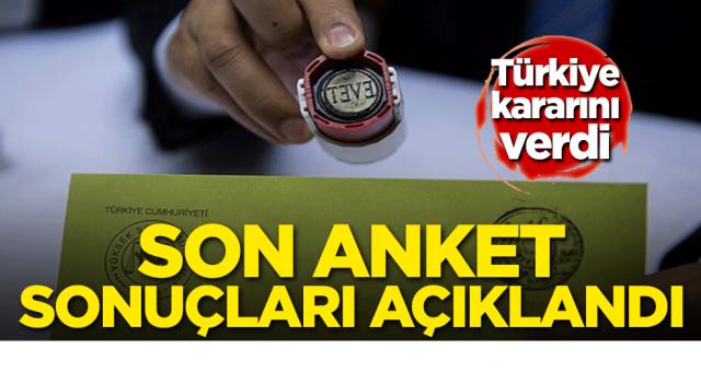Türkiye kararını verdi! Son anket sonuçları yayınlandı