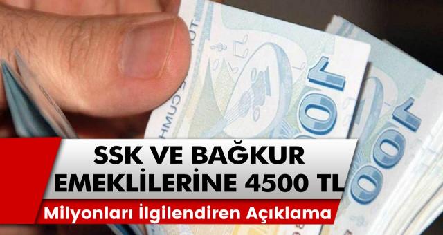 Milyonları ilgilendiren açıklama! Nakit avans imkanı geliyor: SSK ve Bağkur emeklileri için 4500 TL…