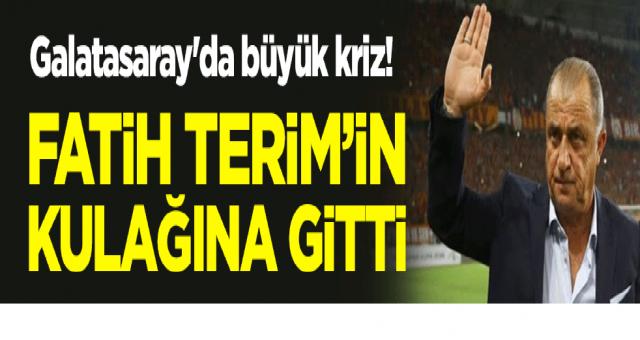 Galatasaray'da büyük kriz! Fatih Terim'in kulağına gitti
