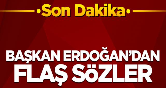 Cuma Namazı Çıkışı mikrofonların karşısına geçen Cumhurbaşkanı Erdoğan gündemi değerlendirdi
